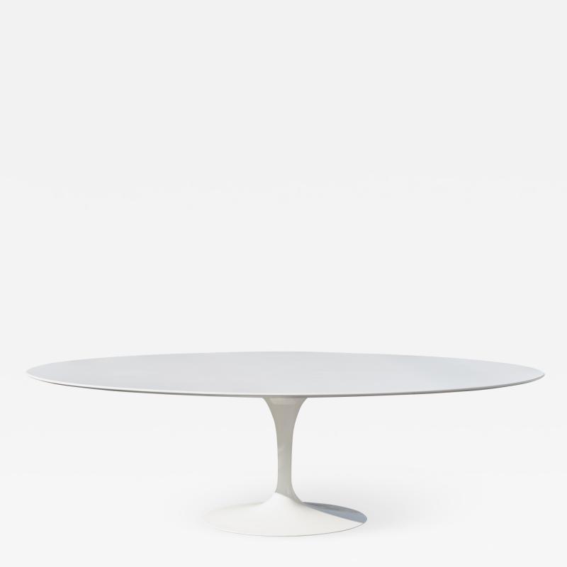 Knoll Saarinen 96 Pedestal Tulip Dining Table in Laminate by Eero Saarinen for Knoll