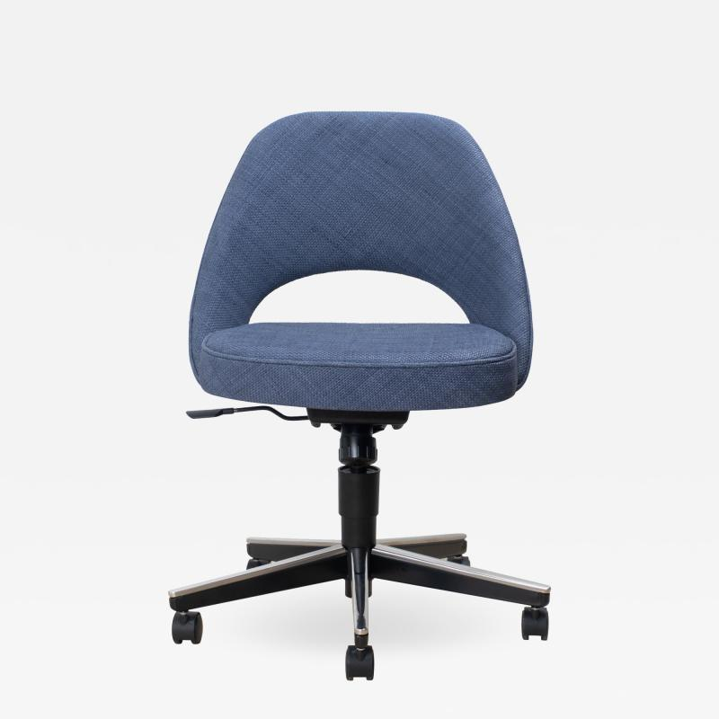 Knoll Saarinen Executive Armless Chair in Woven Leather by Eero Saarinen for Knoll