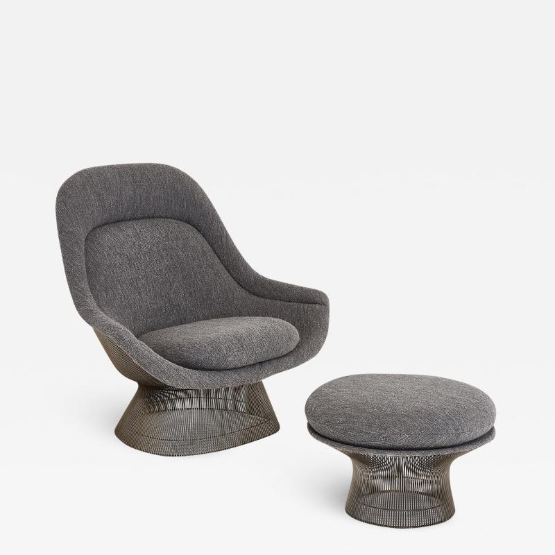 Knoll Warren Platner for Knoll Lounge Chair with Ottoman