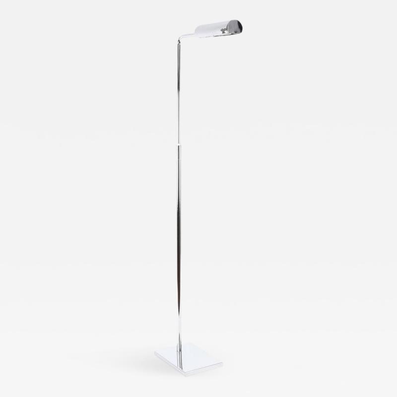 Koch Lowy Koch Lowy Adjustable Chrome Floor Lamp circa 1970s
