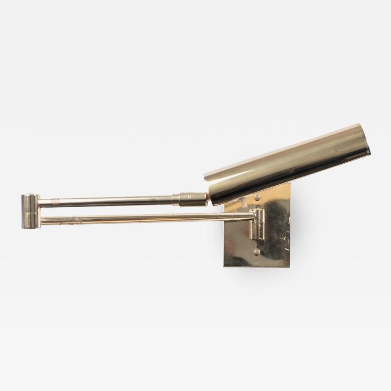 Koch Lowy Koch Lowy Swing Arm Articulating Brass Reading Wall Light Lamp