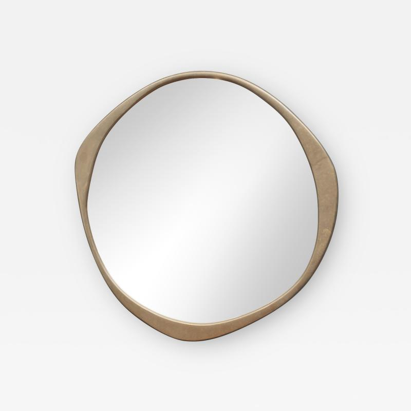 Konekt A Cepa Cast Bronze Wall Mirror by Konekt