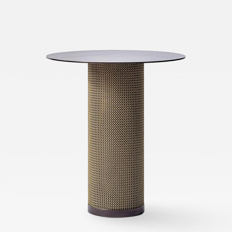 Konekt Armor Side Table with Cylindrical Base