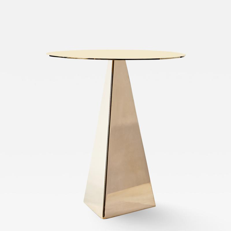Konekt Triangle Side Table in Polished Brass
