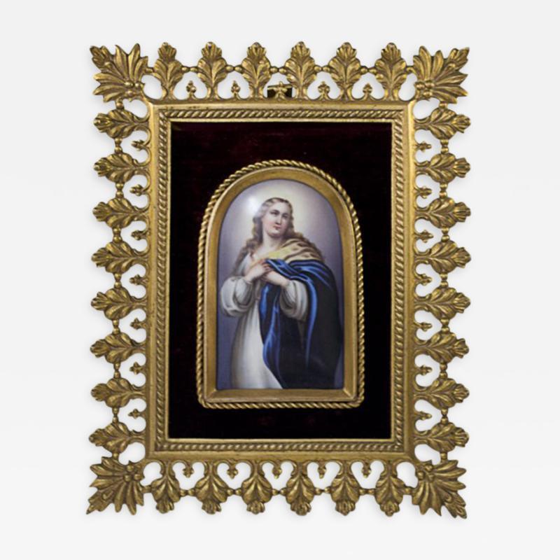 Konigliche Porzellan Manufaktur Berlin KPM Porcelain Plaque Mary Magdalene
