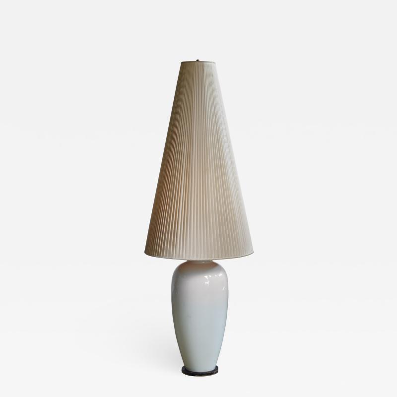 Konigliche Porzellan Manufaktur KPM White porcelain table or floor lamp by KPM Germany 1950s