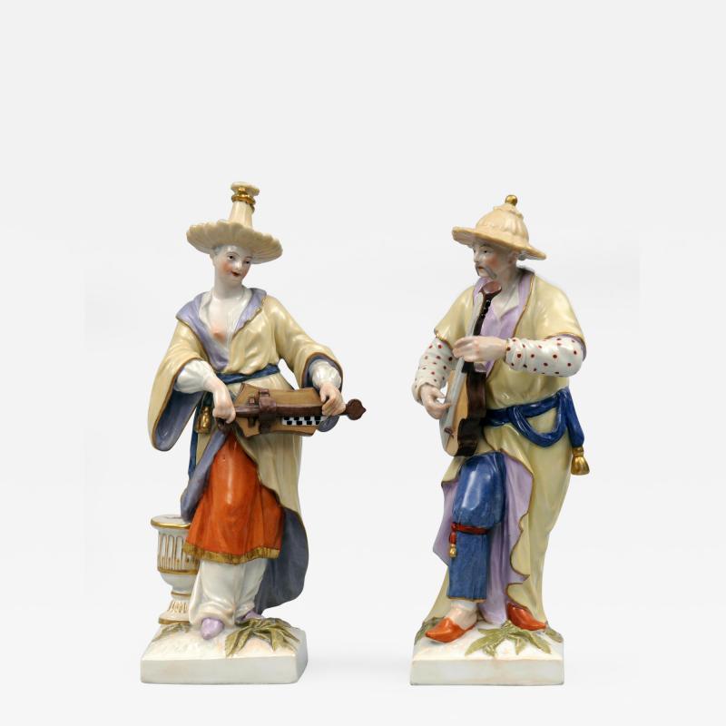 Konigliche Porzellan Manufaktur Pair Berlin KPM Porcelain Figurines Circa 1830