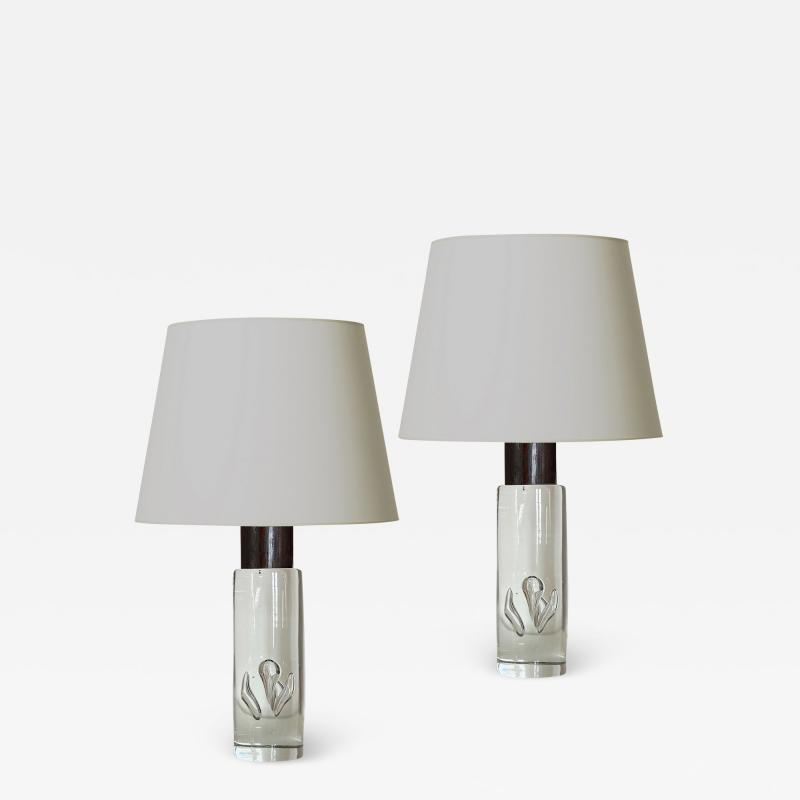 Kosta Boda AB Pair of Mod Table Lamps by Kosta