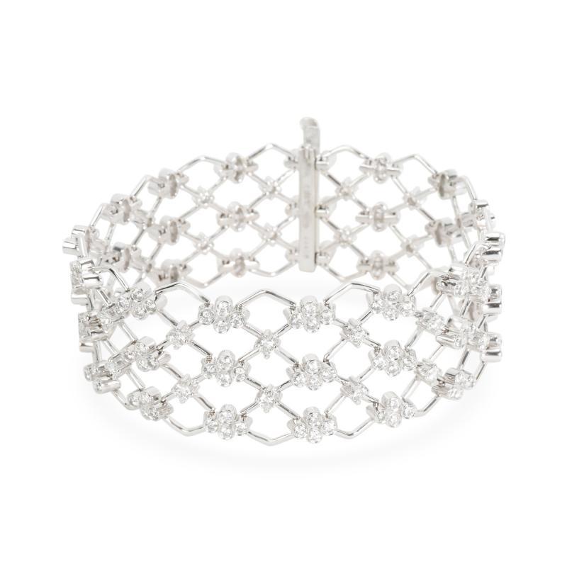 Kwiat Kwiat Jasmine Diamond Bracelet in 18KT White Gold 5 28 CTW