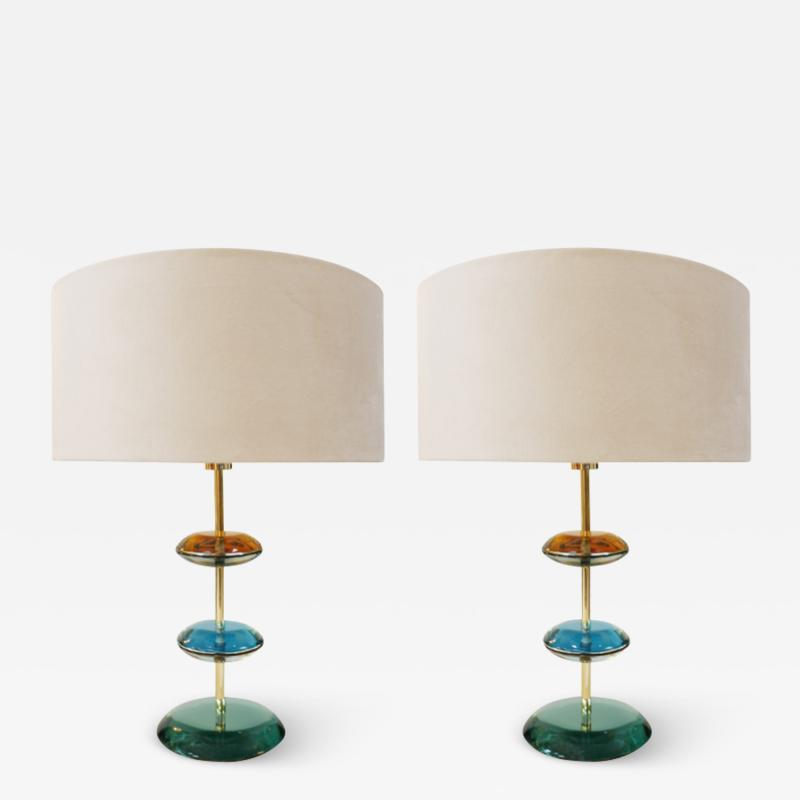 L A Studio PAIR OF TABLE LAMPS DESIGNED BY L A STUDIO