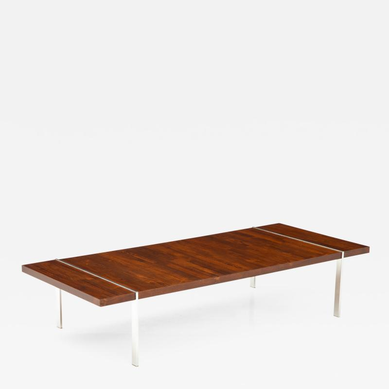 Lane Furniture Rosewood and chrome coffee table by Lane