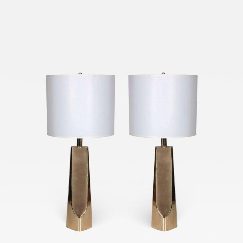 Laurel Lamp Company Laurel Modernist Brass Lamps
