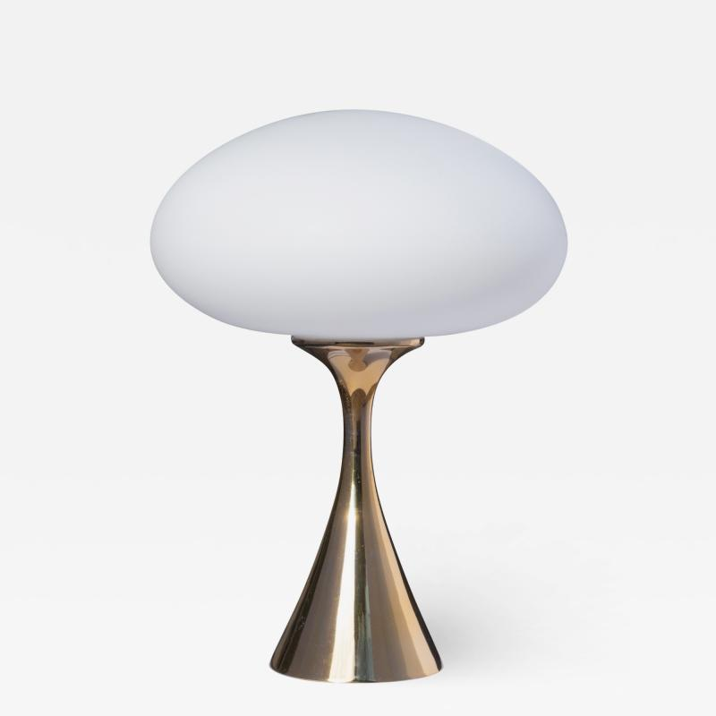 Laurel Lamp Company Mushroom Table Lamp in Brass in the manner of Bill Curry by Laurel Lamp Company