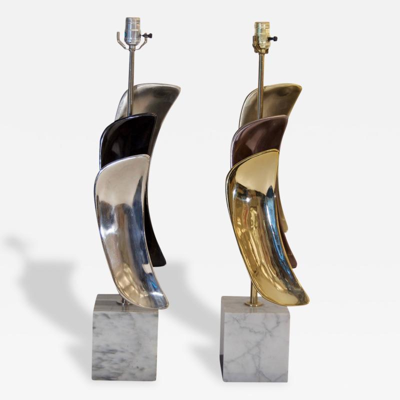 Laurel Lamp Company Pair of Sculptural Laurel Table Lamps