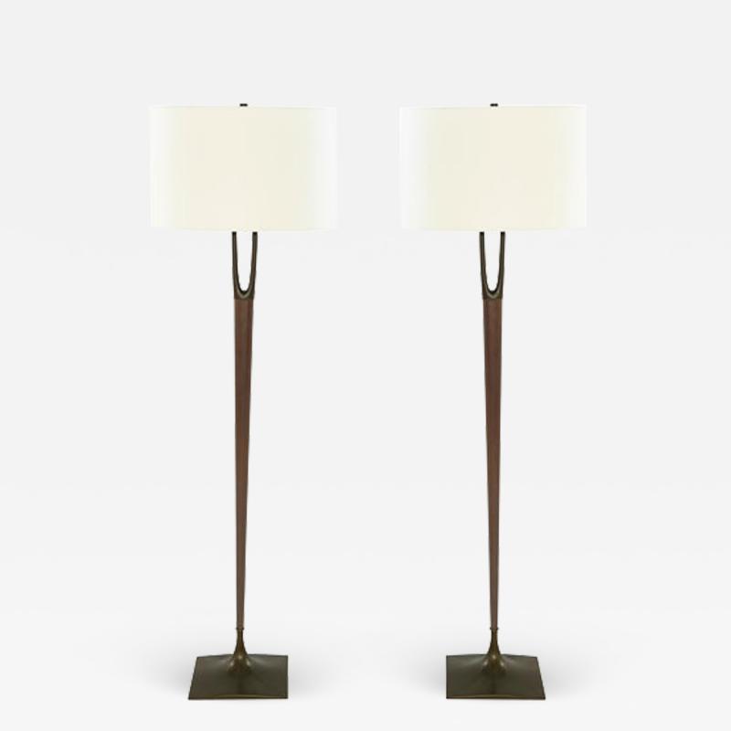 Laurel Lamp Company Pair of Wishbone Floor Lamps by Laurel c 1960s