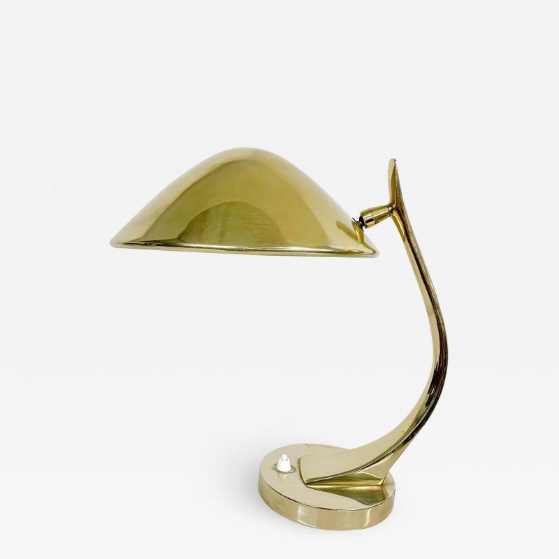 Laurel Lamp Company Sculptural Laurel Desk Table Mid Century Modern Brass Plated Finish