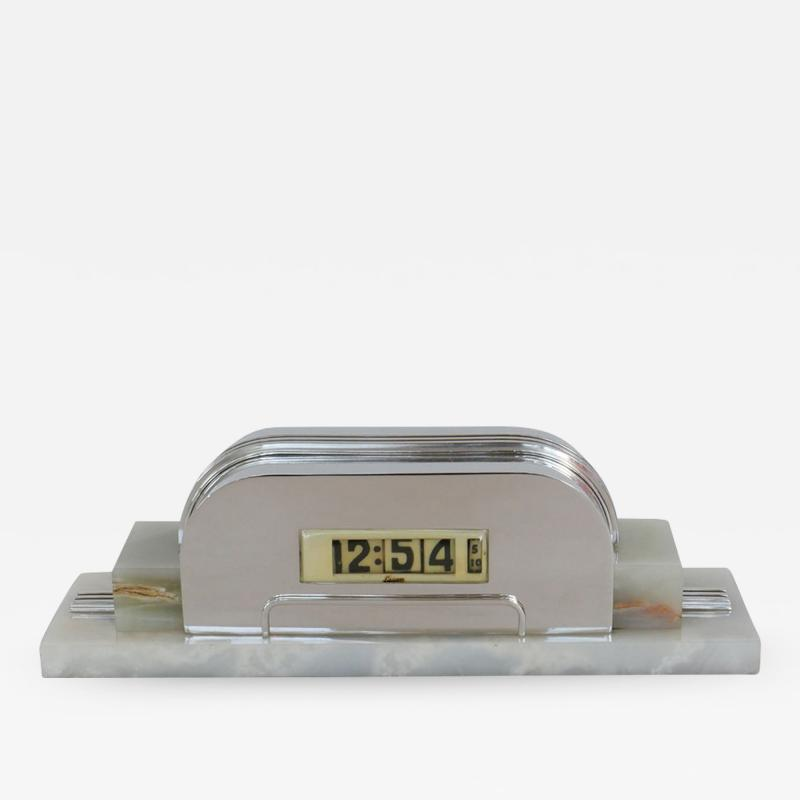 Lawson Time Inc Architectural Steamline Moderne Lawson Clock