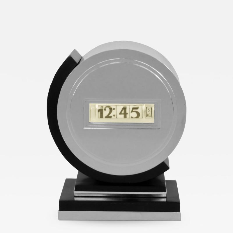 Lawson Time Inc Early Lawson Streamline Art Deco Clock