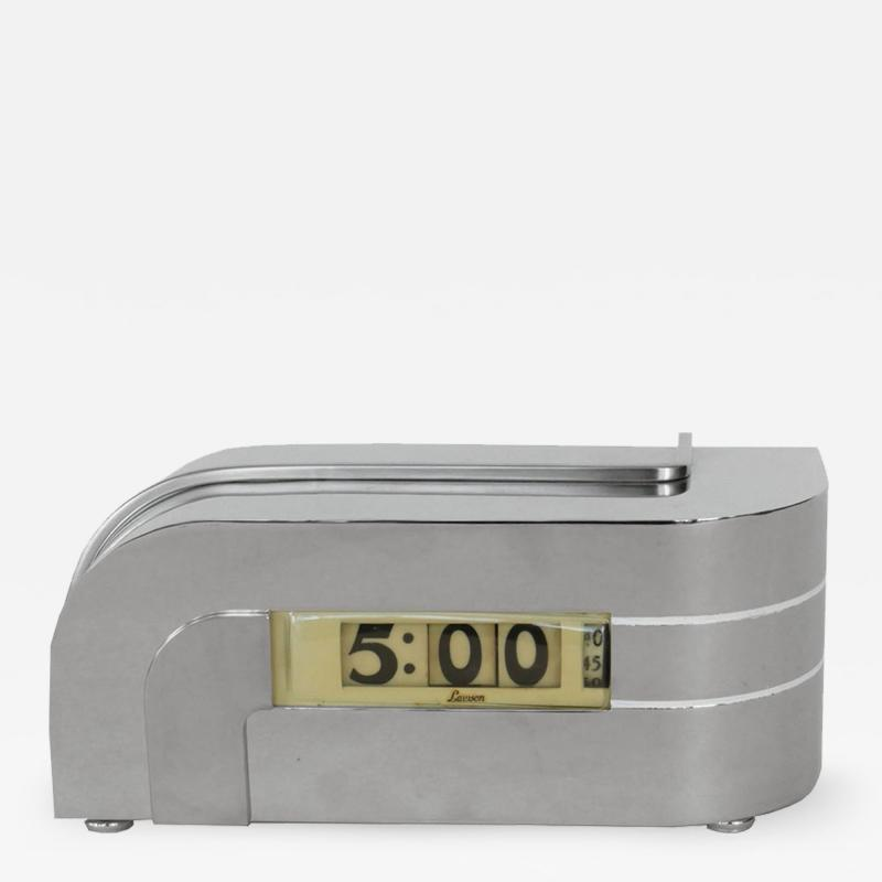 Lawson Time Inc Streamline Lawson Zephyr Clock in Polished Nickel