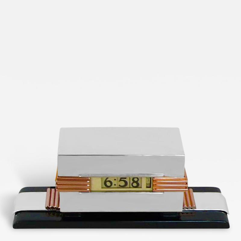 Lawson Time Inc Streamline Moderne Clock by Lawson