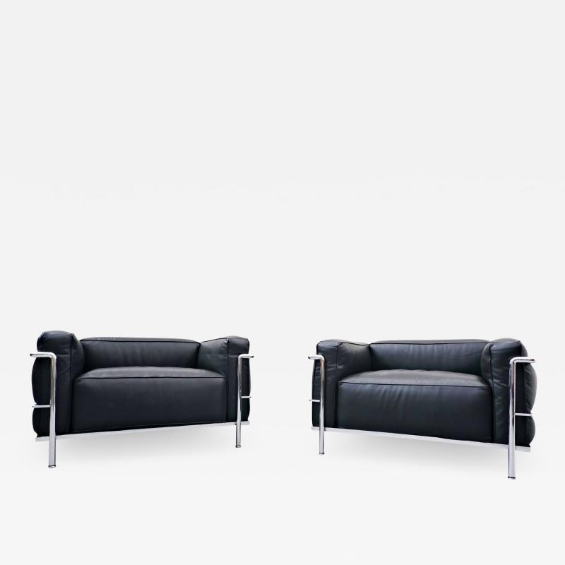 Le Corbusier Pair Of Armchairs LC3 Le Grand Confort Le Corbusier For Cassina