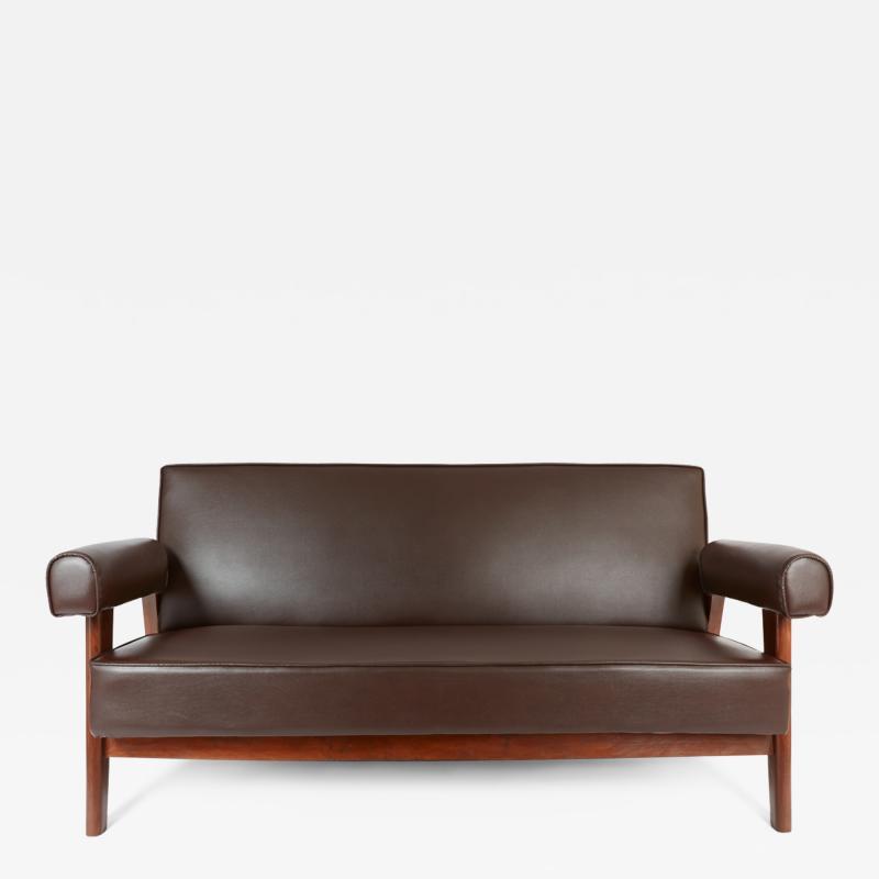 Le Corbusier Rare Advocate Sofa by Le Corbusier and Pierre Jeanneret PJ SI 42 B