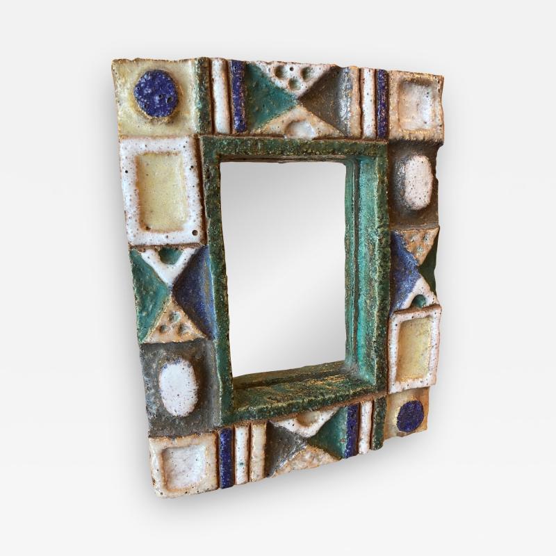 Les Argonautes Ceramic Mirror France 1960s