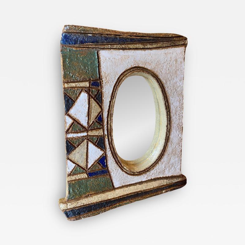 Les Argonautes Les Argonautes Ceramic Mirror France 1960s