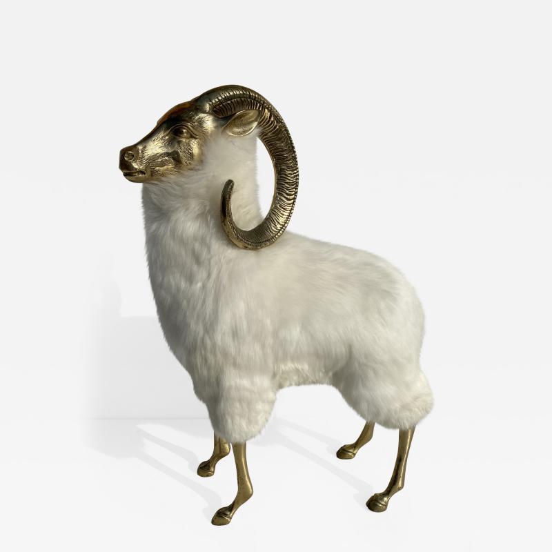 Les Lalanne Brass Mountain Sheep or Ram Sculpture