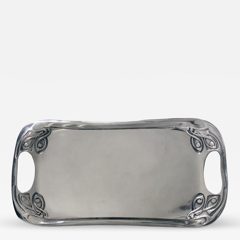 Liberty Co Liberty and Co polished pewter Tray designed by Archibald Knox 1902 1905