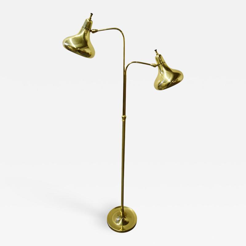 Lightolier Lightolier Brass Dual Headed Floor Lamp