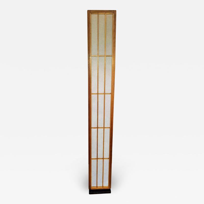 Lightolier Nakashima Style Walnut and Birch Floor Lamp by Lightolier 1960s