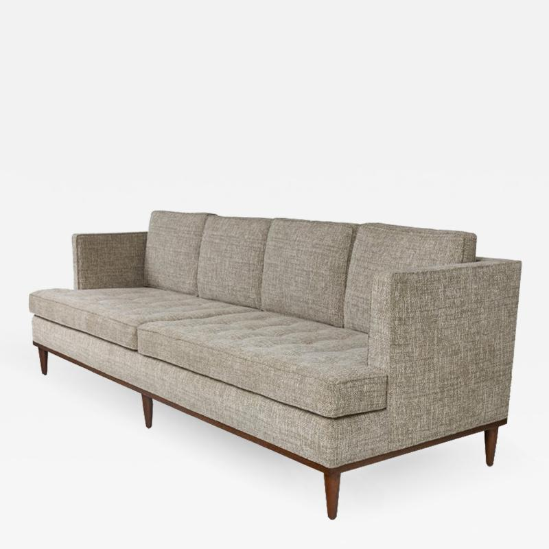 Lost City Arts Midcentury Style Four Seat Sofa by Lost City Arts