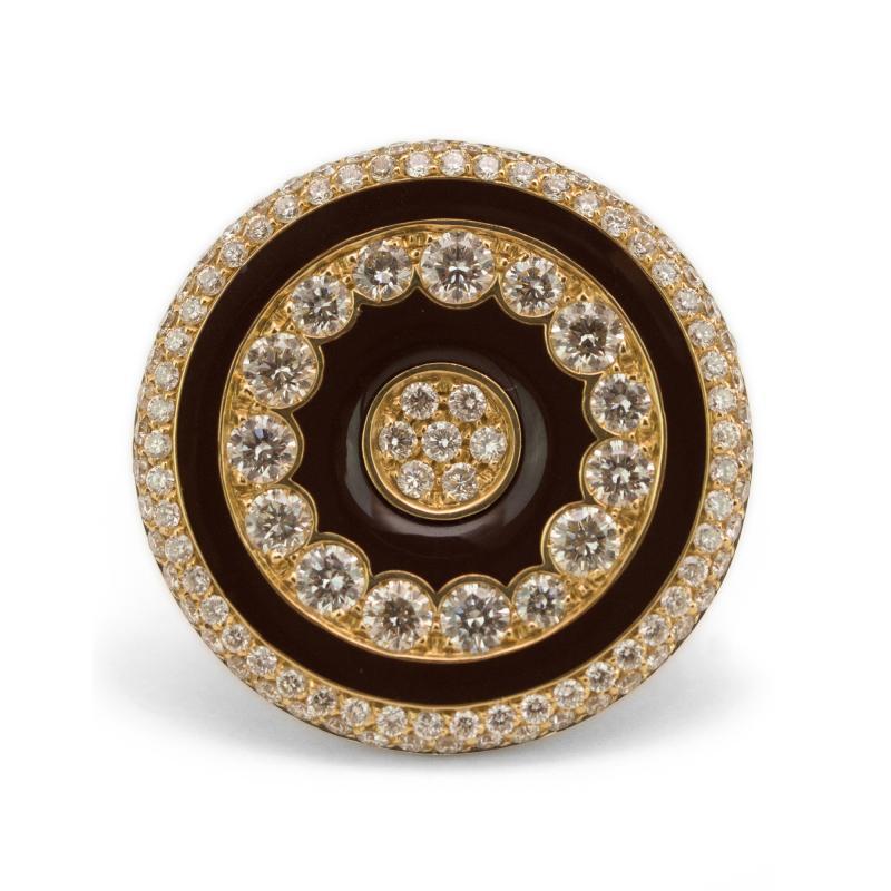 Luca Carati Luca Carati Diamond and Enamel Ring