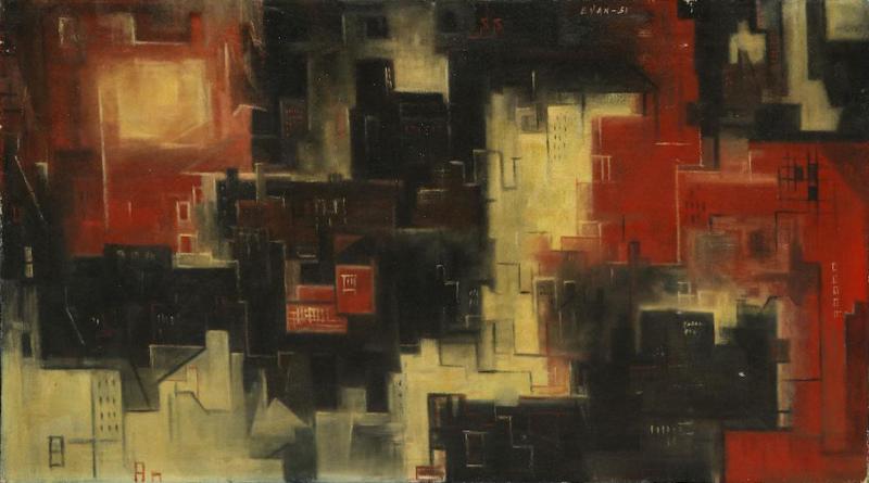 Luis Evan Untitled Oil on Canvas by Luis Evan
