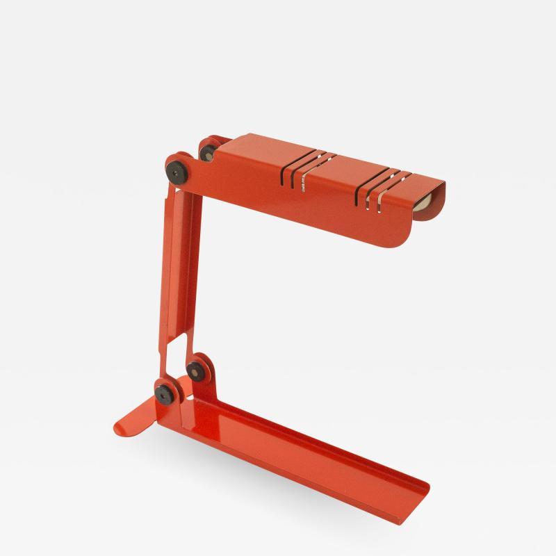 Lumenform Red Nana Table lamp by Carlo Nason for Lumenform 1980s