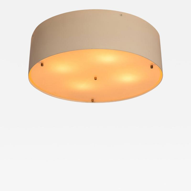 Luminalite Large 1950s Jacques Biny Wall or Ceiling Light for Luminalite