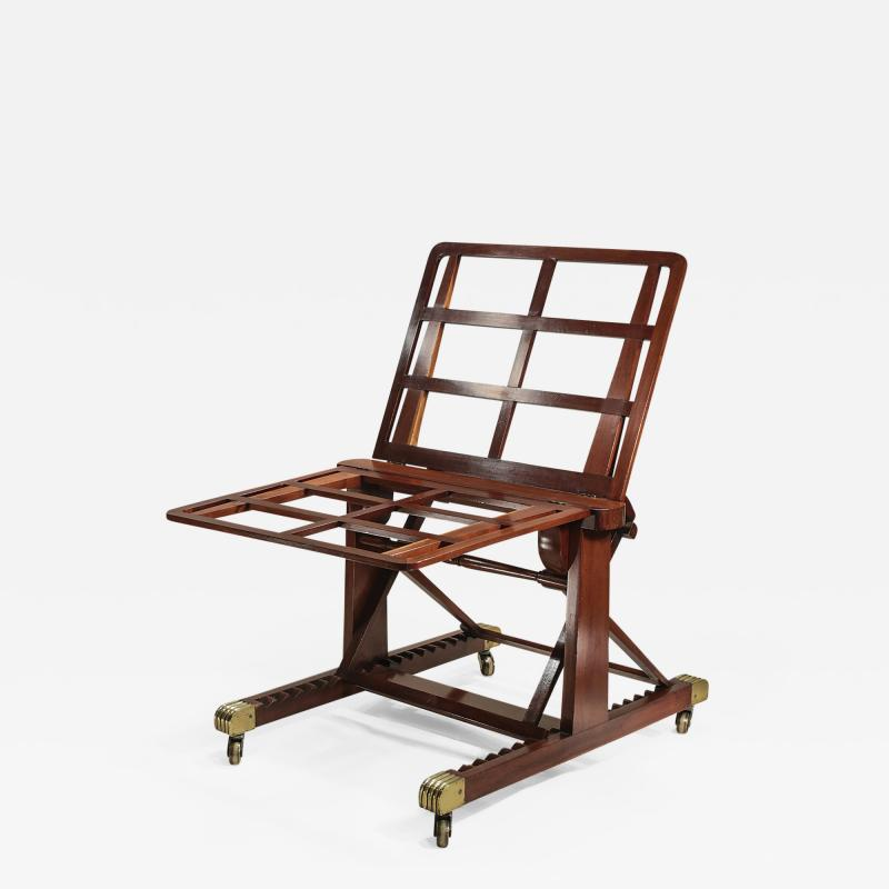 M Ford Creech Antiques GEORGE IV ADJUSTABLE MAHOGANY FOLIO STAND ATTRIBUTED TO GILLOWS