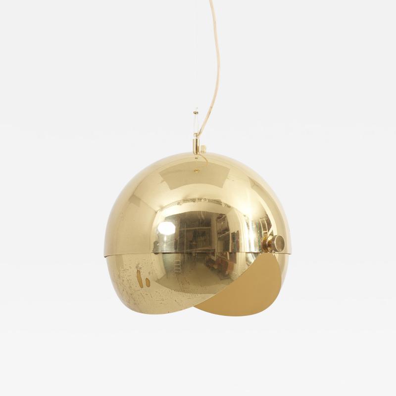 M nchner Werkst tten Huge Adjustable Brass Pendant Lamp Attributed to M nchner Werkst tten Germany