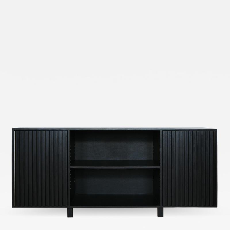 MAWLANA Furniture Home Avicenna Blackened Oak Credenza