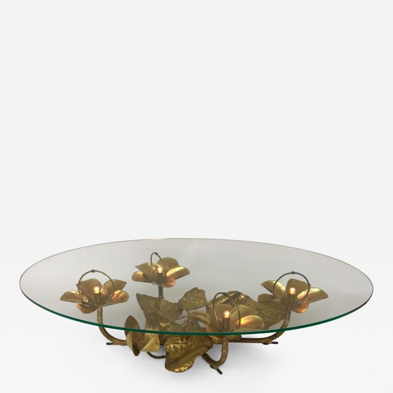 Maison Honor Paris Lightning Coffee Low Table Brass by Maison Honore Paris France 1980s