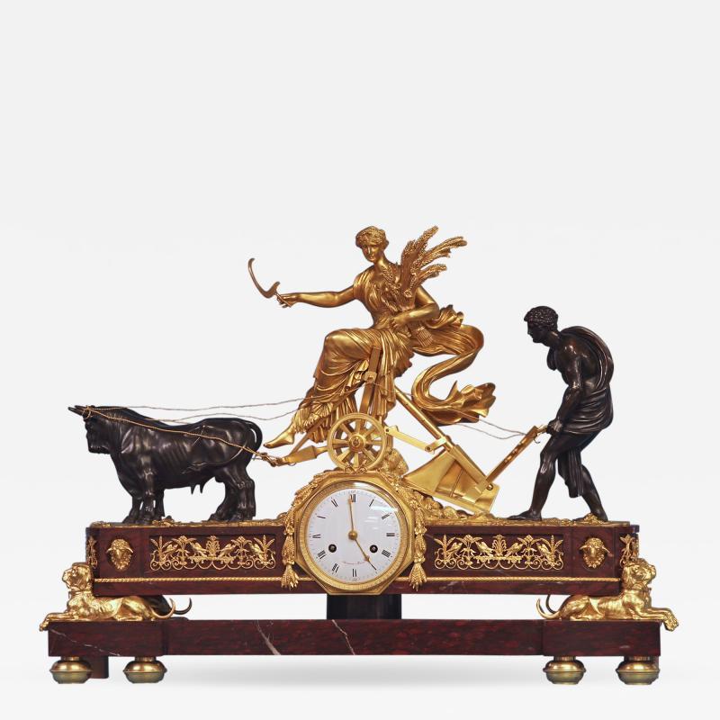 Maniere a Paris c 1815 French Monumental Empire Clock