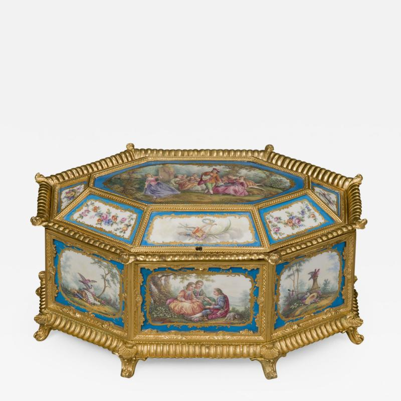 Manufacture Nationale de S vres Sevres Porcelain A Louis XVI Style S vres Style Table Box
