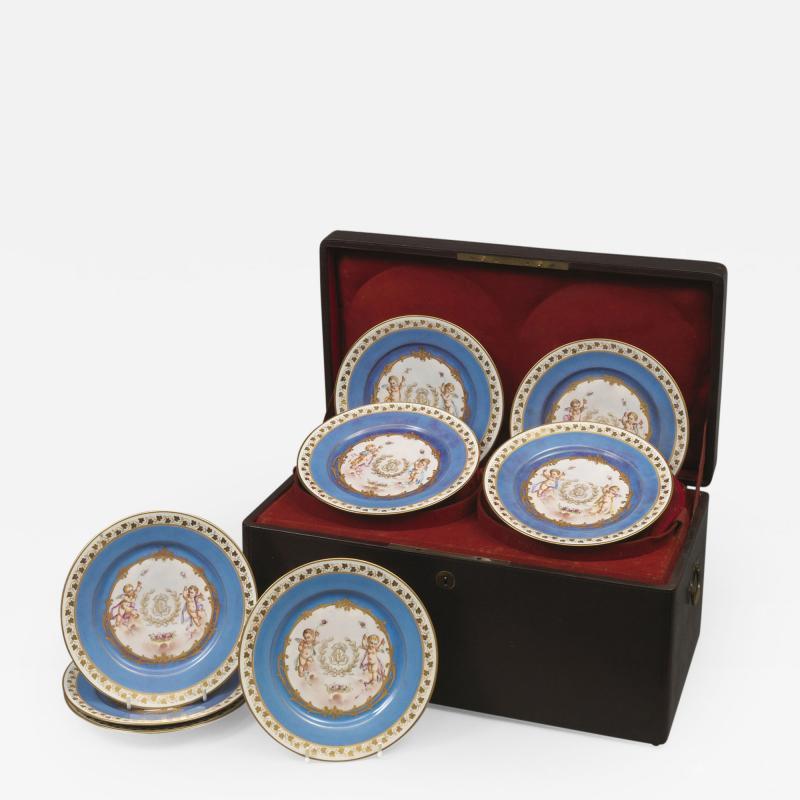 Manufacture Nationale de S vres Sevres Porcelain A Rare Set of Twelve S vres Plates