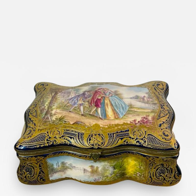 Manufacture Nationale de S vres Sevres Porcelain MONUMENTAL SEVRES PORCELAIN AND ORMOLU BOX