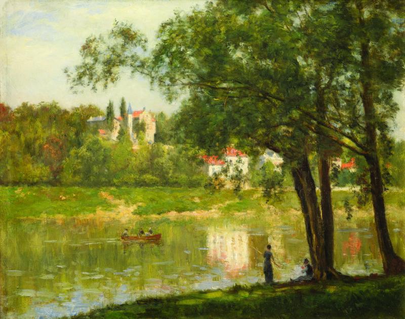 Mark Murray Fine Paintings Stanislas L pine attrib L le de la Grande Jatte