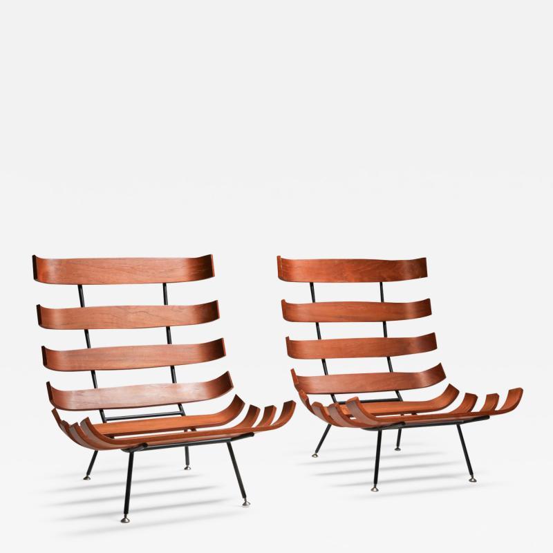 Martin Eisler Carlo Hauner Eisler and Hauner Costela Lounge Chairs 1960s