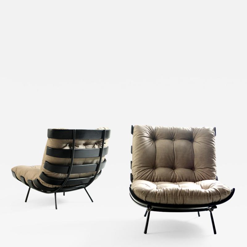 Martin Eisler Carlo Hauner Mid Century Modern Costela Lounge Chair Carlo Hauner Martin Eisler Set of 2