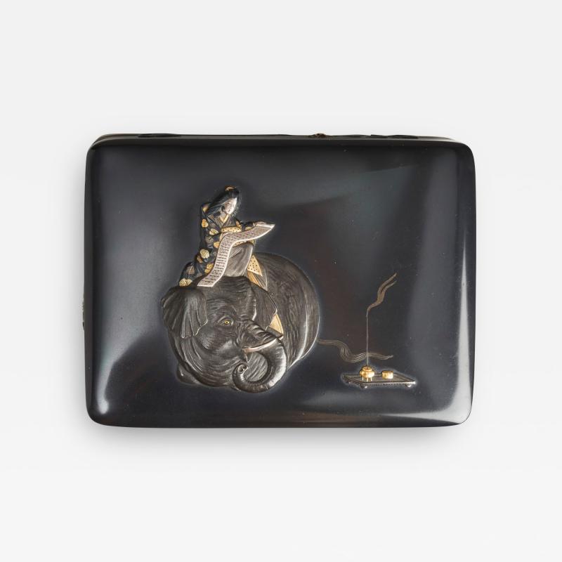 Masayoshi An exquisite miniature Japanese silver and multi metal miniature Koro