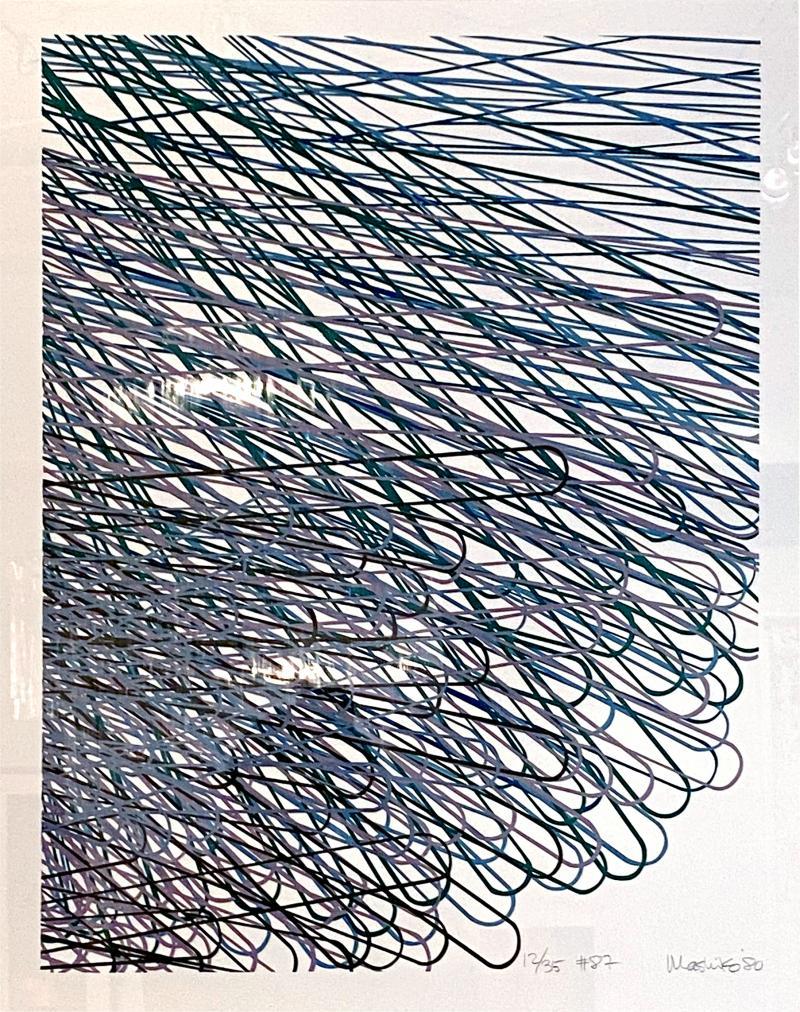 Mashiko Japanese Abstract Expressionist Serigraph Signed Numbered Mashiko